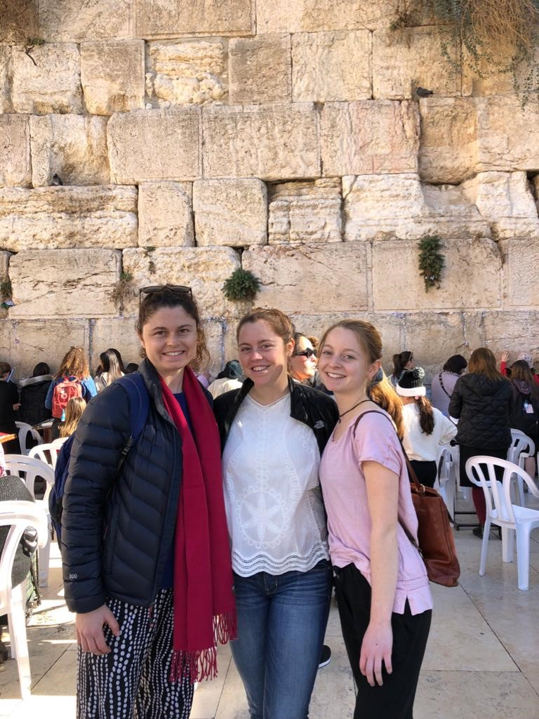 Trip of a Lifetime for Three Sisters   Doctors Elizabeth and Moss Linder's daughters Elkanah, Cara, and Maris recently spent ten days together touring and enjoying an unforgettable Birthright Israel trip!