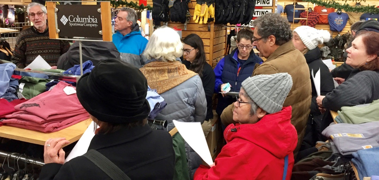 Sam's Outdoor Outfitters and attendees participate. Photo Credit: Stephan Brandstatter